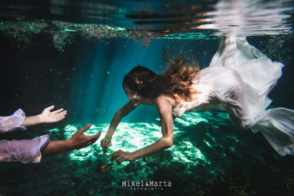 Trash the dress en Dos Ojos